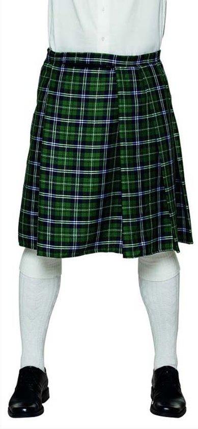 f446e59dbefeb4 Groene Schotse kilt voor mannen - Verkleedkleding - Carnavalskleding