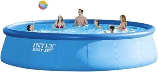 Intex Easy Set Opblaaszwembad Met Accessoires 457 X 122 Cm Blauw