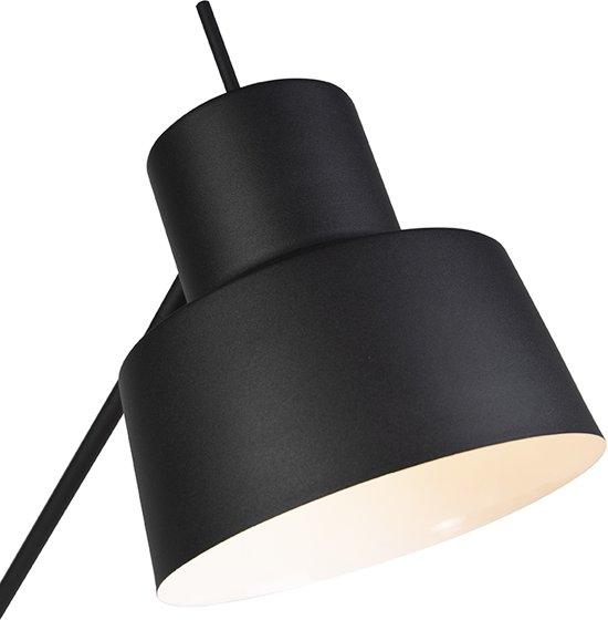 QAZQA chappie - Vloerlamp - 1 lichts - H 1600 mm - Zwart