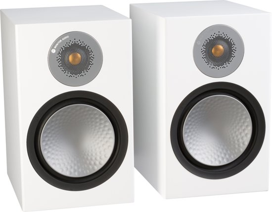 Monitor Audio Silver 100 - Boekenplank Speakers - Satijn Wit