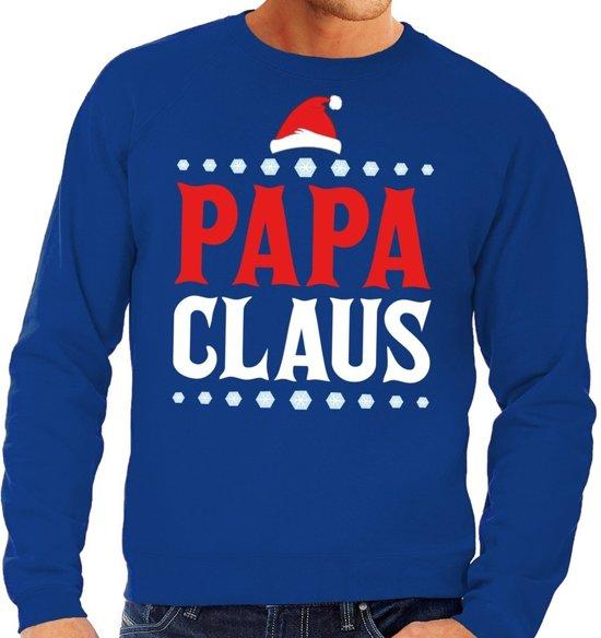 Kersttrui Heren Blauw.Bol Com Foute Kersttrui Sweater Voor Heren Blauw Papa Claus