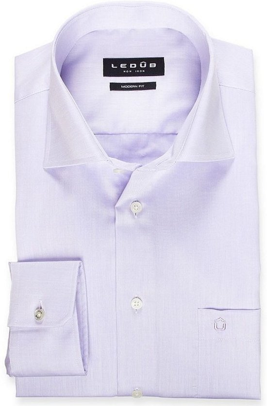 Ledub overhemd modern fit paars, maat 47