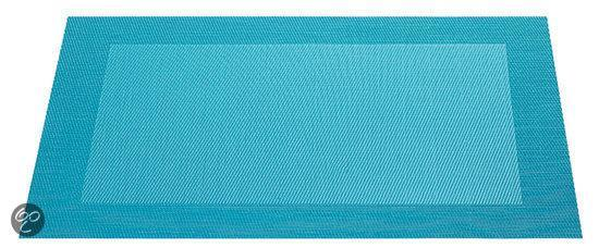 ASA Selection Geweven Rand Placemat -  33 x 46 cm - Turquoise