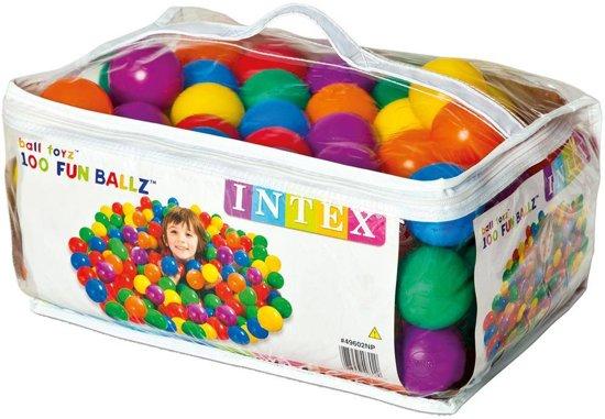 100 Intex ballenbak ballen  6.5 cm