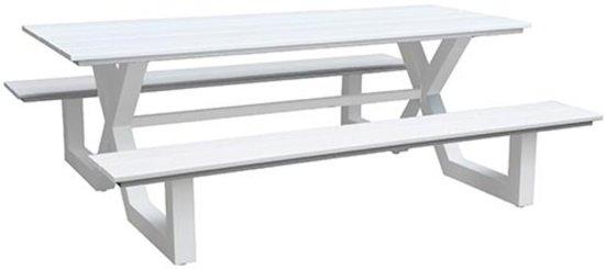 Picknicktafel Family aluminium wit