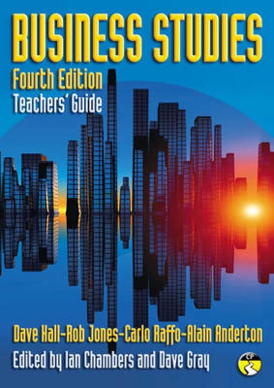 Business Studies Teacher's Guide
