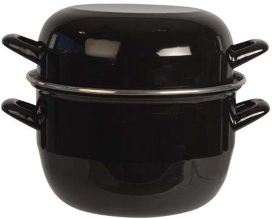 Cosy&Trendy Mosselpan - 20 cm - Zwart
