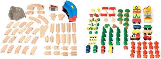 Plum speeltafel Train & Track hout