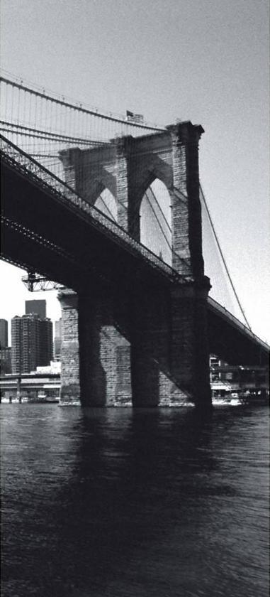 New York Brooklyn Bridge - Deurposter - 210 x 95 cm
