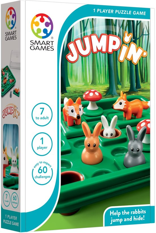 Smart Games Jump In' (60 opdrachten) - Denkspel