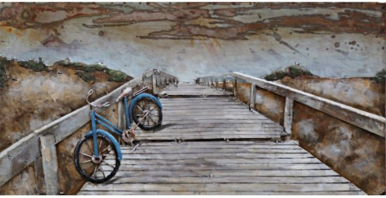 Schilderij metaal 3d zeezicht for Schilderij zeezicht