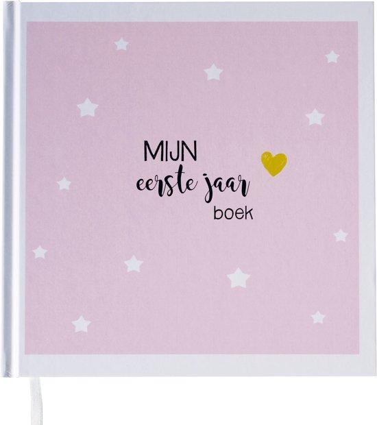babyboek eerste jaar bol.  Babyboek eerste jaar roze   Maan Amsterdam babyboek eerste jaar