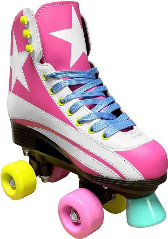 Stamp Rolschaatsen Quad Meisjes Roze Maat 34