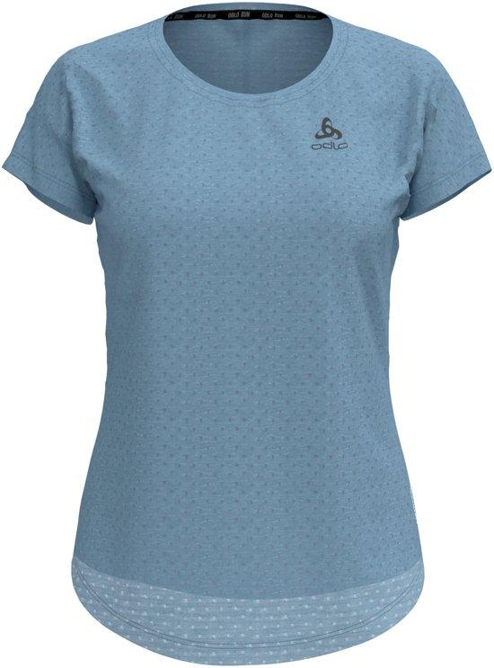 Odlo Bl Top Crew Neck S/S Millennium Linencool Sportshirt Dames - Faded denim melange