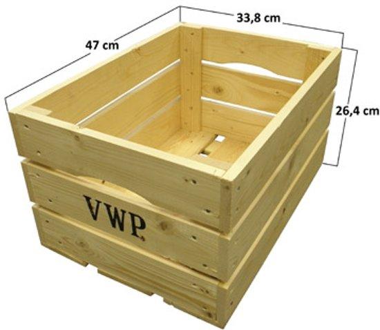 Vwp Fietskrat - Hout - 40 liter- Naturel