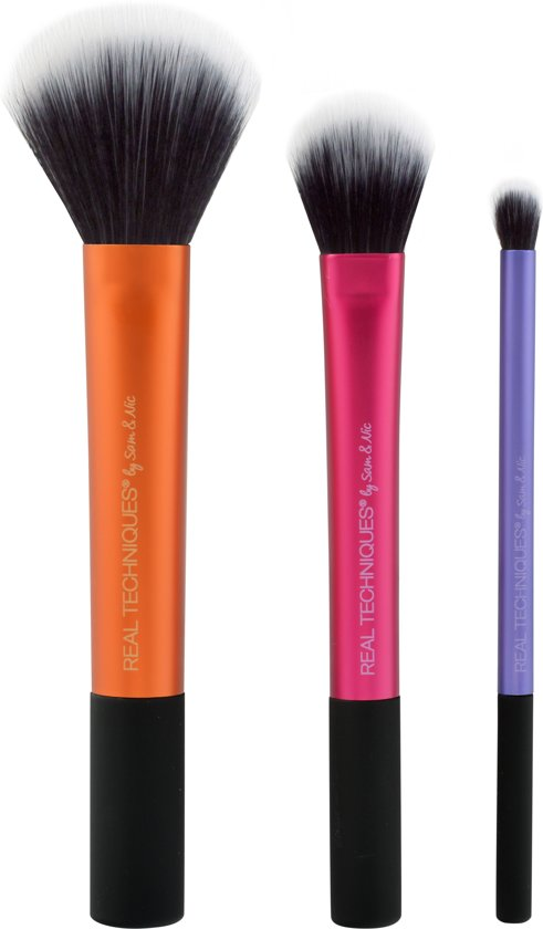 Real Techniques Duo Fiber Collection - 3 delig - Make-up Kwastenset