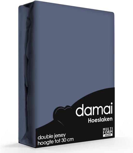 Damai - Hoeslaken (tot 25 cm) - Double Jersey - 180 x 220 - 200 x 200 cm - Dark blue