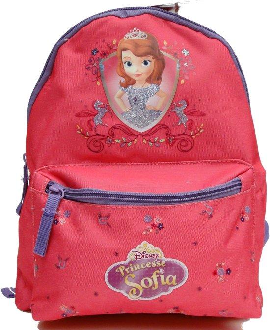 1b3c9ccb144 SOFIA het prinsesje Rugzak Rugtas Peuter School 1-4 Jaar Roze Bloemetjes