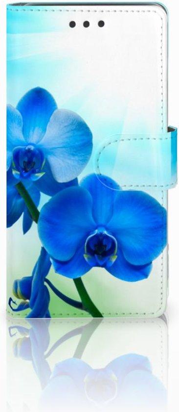Samsung Galaxy J5 2016 Uniek Boekhoesje Orchidee Met Opbergvakjes in Tavier