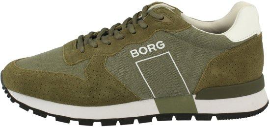 R600 44 Olijfgroen Borg Maat Björn Heren Sneakers Canvas g1px01tn