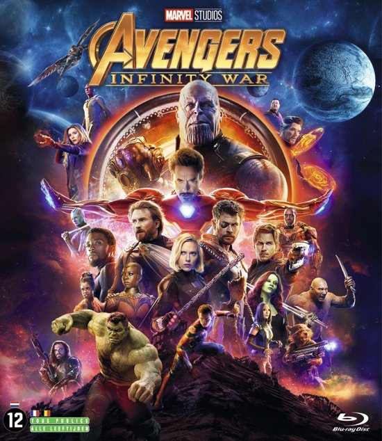 DVD cover van The Avengers: Infinity War (Blu-ray)