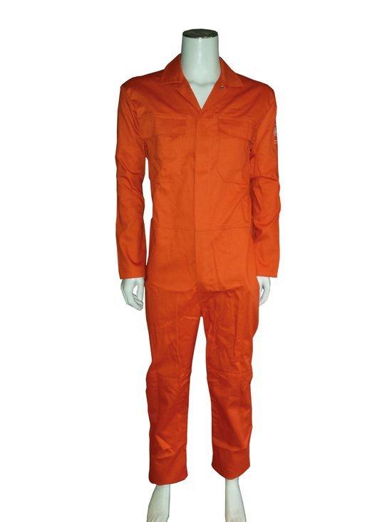 Yoworkwear Overall vlamvertragend AS oranje maat 44