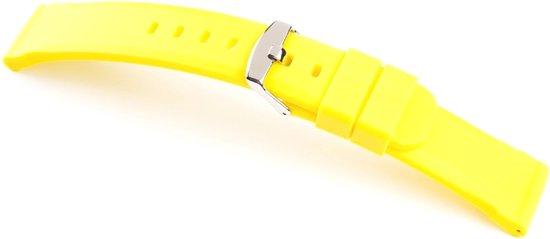Horlogeband Silicone Chrono Geel - 24mm