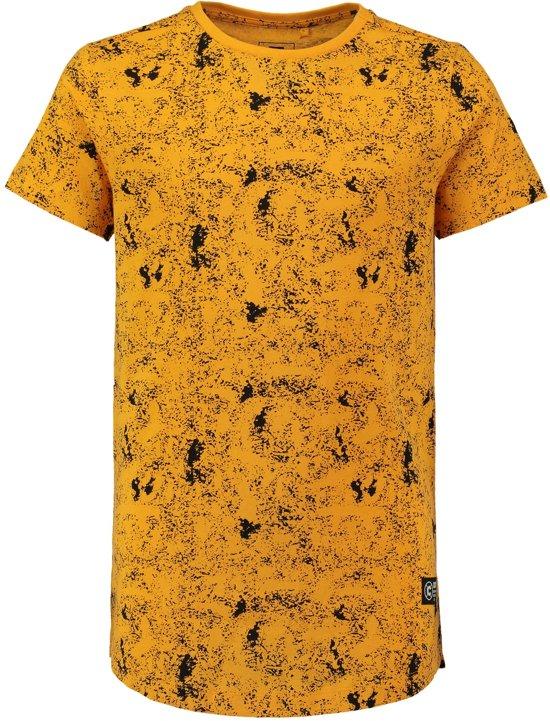 22b3fa9128a5a9 Coolcat Shirt Long length T-shirt met all over print - Donker Geel - 122