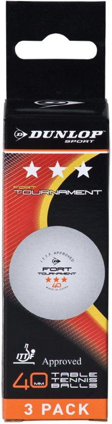 Dunlop FORT TOURN 3BBOX - Wit - Tafeltennisballen