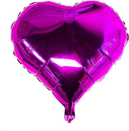 Folieballon Hart Roze 45cm