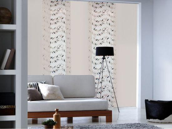 Paneel Gordijn 10 : Bol woonexpress paneelgordijn blaadjes grijs