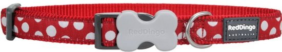 Red Dingo Halsband Hond 15mm 24-36cm DC-S5-RE-15