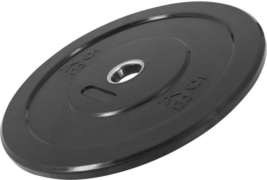 Gorilla Sports Bumper Plate 5 kg Massief rubber (50/51 mm doorsnede)
