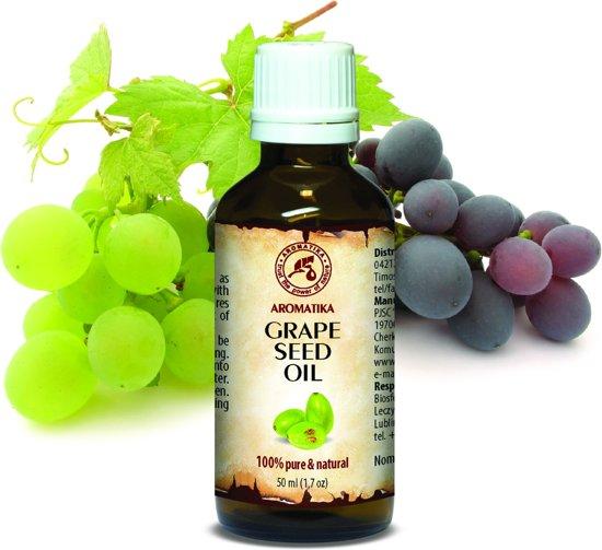 Druivenpit olie 50 ml, 100% zuiver en natuurlijke basisolie, rijk aan mineralen & vitamines voor intensieve lichaamsverzorging / massage / wellness / cosmetica / ontspanning / aromatherapie / etherische olie / alternatieve geneeskunde van AROMATIKA