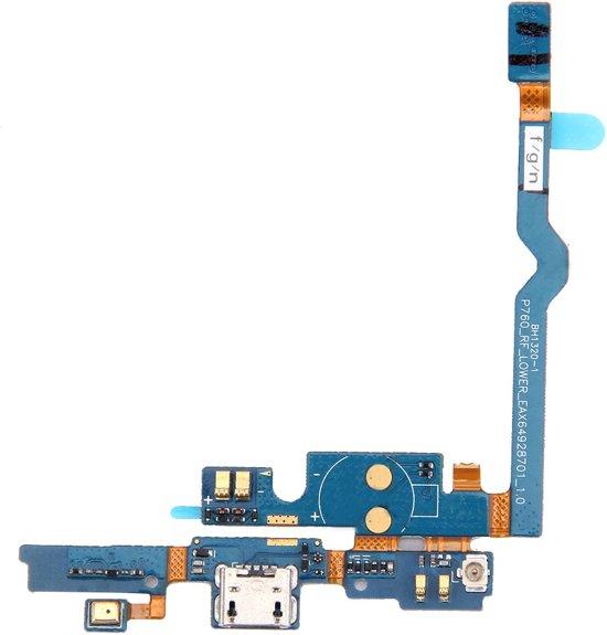 Let op type!! USB-opladen Port Connector Flex kabel & microfoon Flex kabel vervanger voor LG P760 / Optimus L9 / P765 / P768