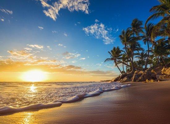 Papermoon Tropical in beach Sunrise Vlies Fotobehang 300x223cm 6-Banen