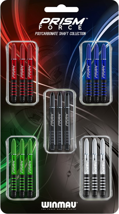 Dart shafts Winmau Prism force collectie