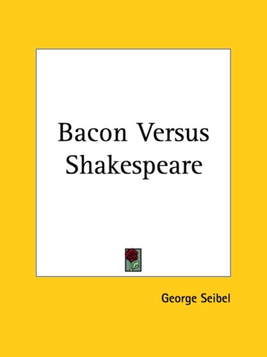 Bacon Versus Shakespeare (1919)