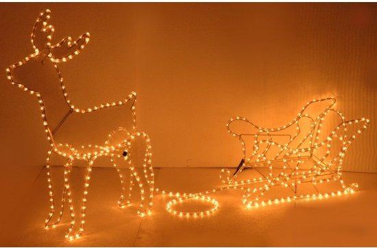 bol.com | Kerstverlichting rendier met slee 97 cm