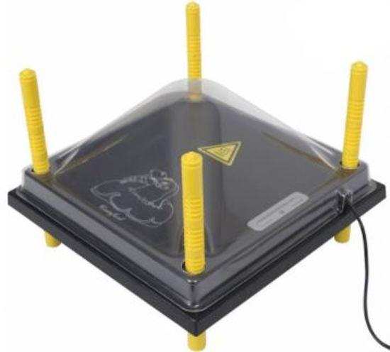 Comfort warmteplaat 25 X 25 cm incl. temperatuurregelaar en afdekkap
