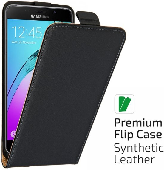 qMust Samsung Galaxy A5 (2016) Elegant flip case - Black in Groeze