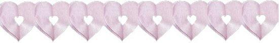 Roze hartjes slinger 6 meter