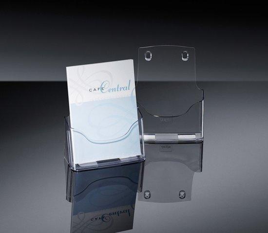 folderhouder Sigel tafelmodel A5 transparant acryl 1 vak