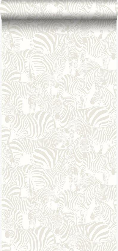 Zebra Print Behang.Bol Com Origin Behang Zebra S Zilver 346836