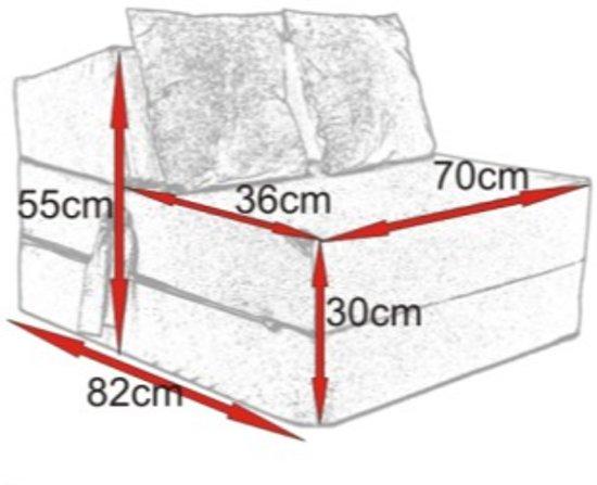 Rode Logeermatras - camping matras - reismatras - opvouwbaar matras - 70 x 200 x 15 met kussen