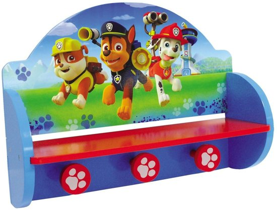Bolcom Nickelodeon Kapstok Paw Patrol Blauw 45 X 14 X 33 Cm