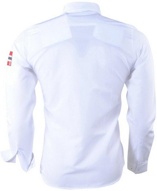 Wit Heren Overhemd.Heren Overhemd Norway Geographical Wit Zoliday Slim Fit 6tvgqw