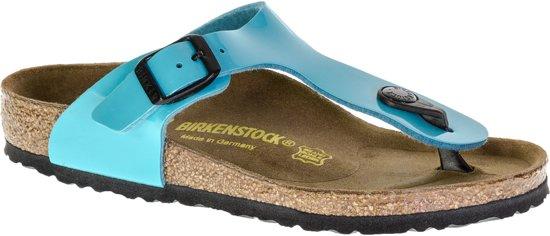 Birkenstock Gizeh Lack Slippers Kinderen Turquoise Maat 30