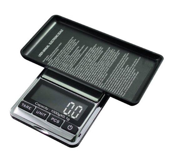 Precisie weegschaal-Zakweegschaal-Keukenweegschaal- mini weegschaaltje 0,1 gram x 1000 gram