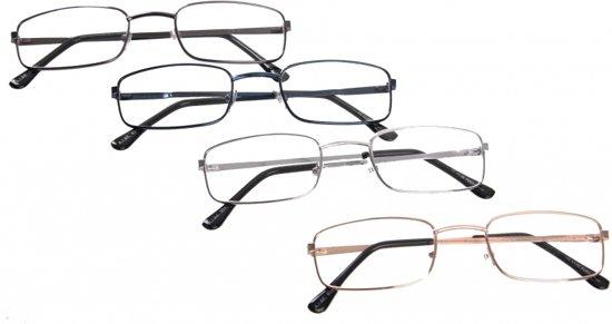 Leesbril +1.00 rechthoekig  goud